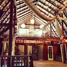 Wedding Venue in our #barn via @Design The Life You Want To Live ~ Interested in renting it? I'm trying to decide if I should do just that. Hmmm. Barns are too pretty for hay :)