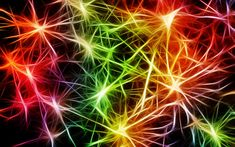 Download wallpapers neon neural connections, neon light, colorful abstraction, neurons