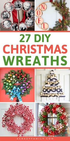Make these easy and affordable DIY Christmas Wreaths to decorate your home in style or sell to make extra money this holiday season. Christmas Wreaths To Make, Christmas Swags, Holiday Wreaths, Christmas Fun, Winter Wreaths, Mesh Wreaths, Rustic Christmas, Holiday Ideas, Easy Holiday Decorations