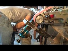 Wuertz Machine Works surface grinding attachment on a BIII, - YouTube