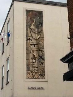 Random street art (mosaic) in Chichester, West Sussex, UK - Crane Street