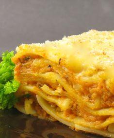 Uma mordida Perfeita: Abóbora e Queijo de Cabra Lasagna