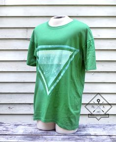 Unisex Bleached Triangle Shirt // XLarge by FREELoadApparel #makersonhudson