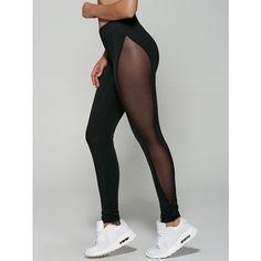 See-Through Mesh Leggings ($16) ❤ liked on Polyvore featuring pants, leggings, mesh pants, see through legging, sheer mesh pants, sheer leggings and sheer mesh leggings