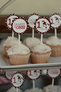 Puppy Dog Party Cupcake Topper for Birthday JPEG by RVparties, $7.50