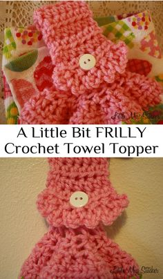 A Little Bit Frilly Crochet Towel Topper. Free pattern and so easy!