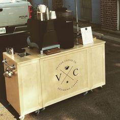 Vector Coffee Company mobile espresso cart in Saskatoon