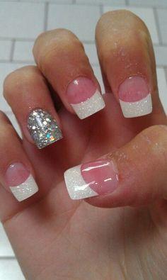 Sparkly nail acrylics