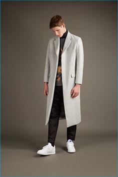 07b4aecf9f79 Matthew Miller pale grey wool overcoat
