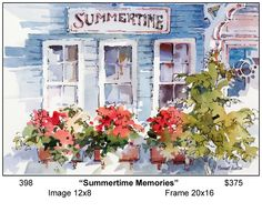 Watercolor Sketchbook, Watercolor Artists, Watercolor Paintings, Watercolours, Watercolor Architecture, Watercolor Landscape, Watercolor Sunflower, Watercolor Flowers, Watercolor Pictures