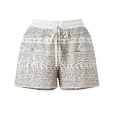 RAOUL Laser-Cut Leather Shorts ($690) ❤ liked on Polyvore