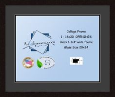 Art to Frames DoubleMultimat7328989FRBW26061 Collage Frame Photo Mat Double Mat with 1  16x20 Openings and Espresso frame * Click image for more details. Note: It's an affiliate link to Amazon.