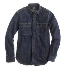 Selvedge indigo denim shirt