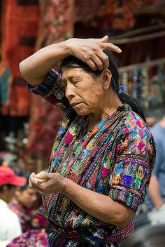 :: Guatemala :: Their weavers make the most amazing colored fabric! Note how (with the black as a base?) it isn't gaudy.