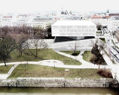 why-how-what designs 'wiener musikhaus' mixing a music school with a concert hall in vienna, austria