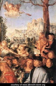Feast of the Rose Garlands (detail) - Albrecht Durer - www.albrecht-durer.org