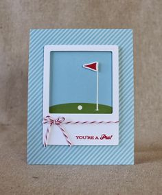 Stamp Designer Showcase: On The Links - You're A Pro Card by Lizzie Jones for Papertrey Ink (March 2014)