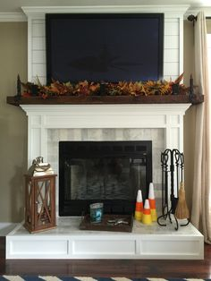 String Together Fall Silks And Place To Homemade Spooky Candles On Either  Side. Finish The · Fireplace BookcaseBedroom ...