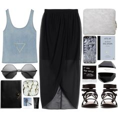 """Stars Are Falling, Are We Falling Too?"" by theonlynewgirl on Polyvore"