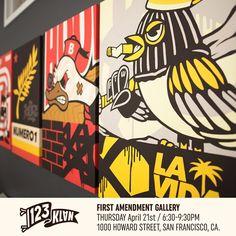 Opening in 3 hours ! Get ready. Where ? @1amsf San Francisco ! #123klan #1amsf #bandit1sm