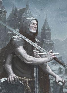 The Albino Guard - ART by Maksim Vorontsov - Illustrator Fantasy City, High Fantasy, Dark Fantasy Art, Medieval Fantasy, Fantasy World, Character Concept, Character Art, Concept Art, Character Design