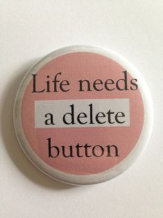 LOUDMOUTH Opinion Delete Button  2.25 Button Pin by FireFleaCove, $2.40