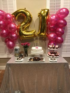 Party decoracion birthday 23 Ideas for 2019 Birthday Goals, 21st Birthday Gifts, 22nd Birthday, Cake Birthday, 21st Bday Ideas, Birthday Party Decorations Diy, Birthday Party Themes, Best Birthday Surprises, Decoration Evenementielle