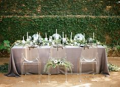 #outdoor-dinner-party  Photography: Clayton Austin - loveisabird.com  Read More: http://www.stylemepretty.com/2014/07/31/classic-black-and-white-wedding-inspiration/