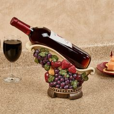 Grown in the Italian countryside, this Tuscan Fruit creates a delectable tablescape. This wine bottle holder will hold one bottle of your favorite vintage. Mediterranean Homes Exterior, Mediterranean House Plans, Mediterranean Architecture, Mediterranean Decor, Exterior Homes, Tuscan Homes, Tuscan Design, Tuscan Style, Italian Home Decor
