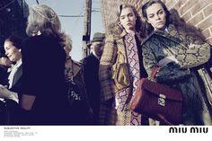 jóvenes actrices invaden la campaña otoño/invierno 2015 de miu miu | look | i-D