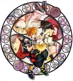 Kingdom Hearts - Sora, Roxas, Axel, Riku, Kairi and Namine (by Nekozumi)
