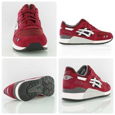 Classy: the maroon/burgundy version of the Asics Gel-Lyte III from the new Varsity Suede Pack