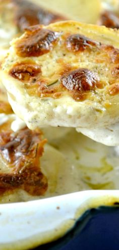 Boursin Cheese Scalloped Potatoes that are lusciously rich, creamy and deliciously buttery.