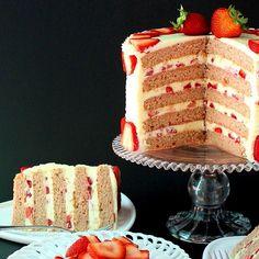 SugaryWinzy Fresh Strawberry Cake12 by SugaryWinzy, via Flickr