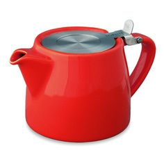 Sturdy Red Teapot, Tate Modern: Also available in Black, Vanilla, Paprika, Lime and White. #Teapot #Tate_Modern