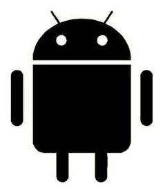 Android Google Vinyl Sticker Decal-White-6 Inch