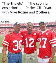 Rozier, Gill, Fryar Nebraska Cornhuskers Football, Nebraska Football, College Football, Football Stuff, Alliance Nebraska, Tom Osborne, Sport Craft, Best Fan, Athlete