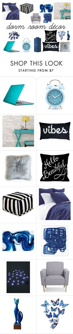 """""""Blue Dorms"""" by sparklingpearl619 on Polyvore featuring interior, interiors, interior design, home, home decor, interior decorating, Speck, Pine Cone Hill, Wendover Art Group and Music Notes"""