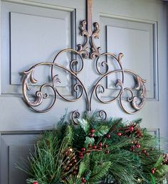 iron wreath hanger holder#wrought iron<3