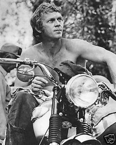 "McQueen and a Triumph. Though Tom Cruise would later say ""I feel the need for speed"" in ""Top Gun,"" it was McQueen that embodied that need. He was fearless, often doing his own stunts."