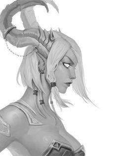 Jinaara by Noir-snow on DeviantArt Dark Fantasy Art, Fantasy Women, Fantasy Rpg, Fantasy Girl, Fantasy Artwork, Fantasy Character Design, Character Design Inspiration, Character Art, Art Warcraft