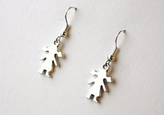 Earrings with girls from Especially for You available on http://en.dawanda.com/shop/Especially-4-You