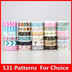 531 Patterns Hot 30pcs/Lot Tape flowers chevrons Print Deco DIY Adhesive Masking Tape,Japanese Washi Tape Paper 10m Wholesale-in Office Adhesive Tape from Office & School Supplies on Aliexpress.com | Alibaba Group