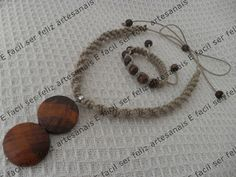 É fácil ser feliz - artesanais: Passo a passo - Colar e pulseira em macramê - Nó duplo