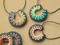Rotella Pendants by Carina's Photos and Polymer Clay, via Flickr