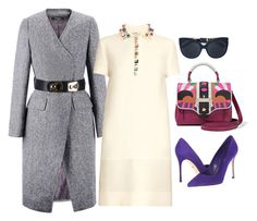 """""""A Hint Of Color!!!"""" by la-harrell-styling-co on Polyvore featuring Paula Cademartori, Fendi, Sergio Rossi, Linda Farrow, women's clothing, women's fashion, women, female, woman and misses"""