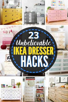 23 Incredible IKEA Dresser Hacks to Inspire! Check out these AMAZING Ikea dresser updates and dresser makeovers, all using Ikea dressers. #Ikea #ikeahack #ikeahacks #ikeadresser #ikeadressermakeover #ikeadressernursery #ikeadresserhackhemnes #ikeadresserhacktarva #ikeadresserhackmalm #ikeadressermakeoverhemnes #Ikeadresserhackrast #ikeadresserhackmidcentury #ikeadresserhackrask #ikeadresserhackkids Ikea Dresser Makeover, Furniture Makeover, Furniture Upholstery, Ikea Furniture, Furniture Deals, Furniture Projects, Ikea Home, Affordable Home Decor, Ikea Hacks