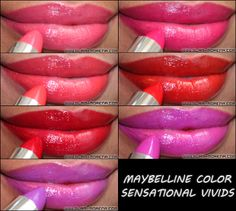 Glam Morena: Maybelline Color Sensational Vivids Lipsticks.