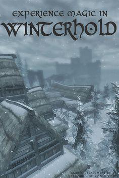 Winterhold - The Elder Scrolls V: Skyrim by scifitographer The Elder Scrolls, Elder Scrolls Games, Elder Scrolls V Skyrim, Skyrim Comic, Skyrim Funny, Playstation, Fantasy Inspiration, Vintage Travel Posters, Best Games