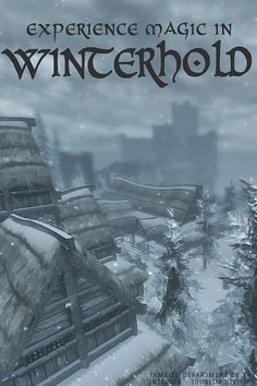 winterhold, skyrim poster by scifitographer, via Flickr